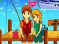 Game Kisses on fishing . Play online